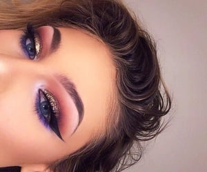 art, eye liner, and eyes image