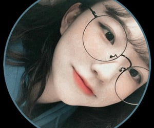 blue, glasses, and ulzzang image