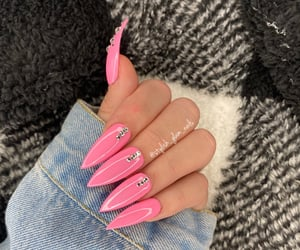 barbie, pink nails, and nail ideas image