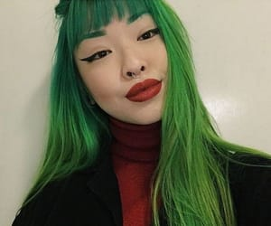 alternative, green hair, and beauty image
