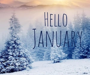 hello, january, and quotes image