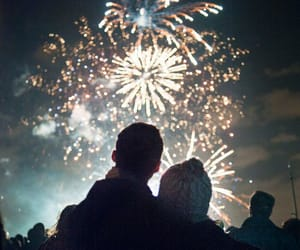 new year, fireworks, and love image