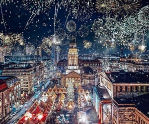fireworks, travel, and new year image
