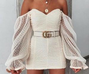 belt, dress, and fashion image