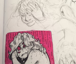 sketchbook, artist on tumblr, and traditional art image