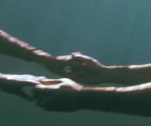 hands, ocean, and love image