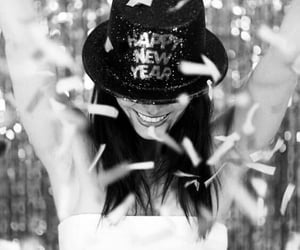 black&white and happy new year image