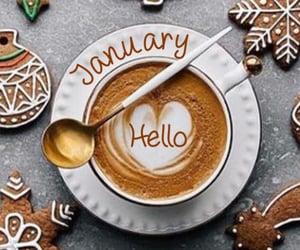christmas cookies, coffee, and january image