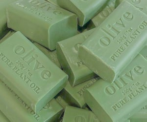 green, soap, and olive image