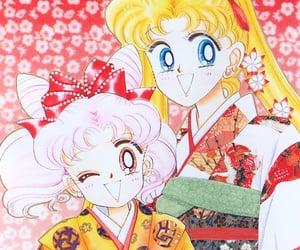 manga, sailor moon, and sailor chibi moon image