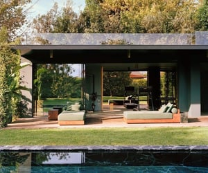 architecture, pool, and house image