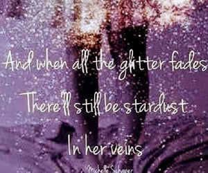 glitter, stardust, and words image