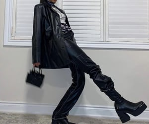 aesthetic, fashion, and leather image