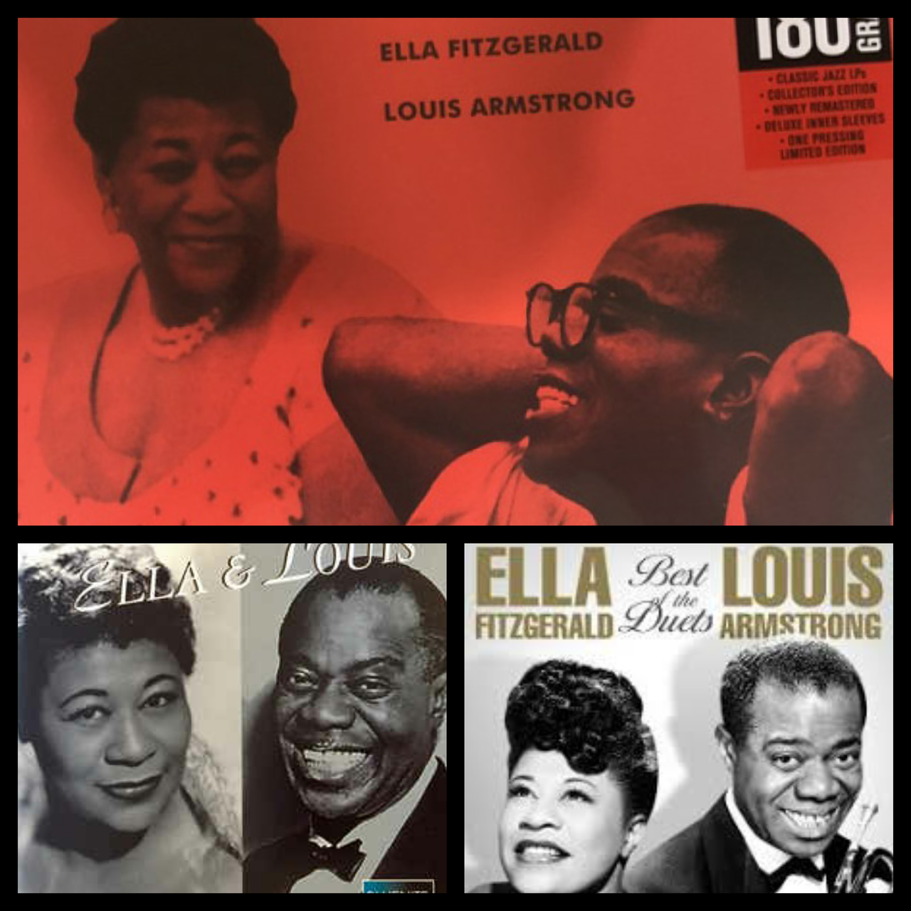 ella fitzgerald, louis armstrong, and song image