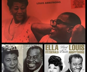 ella fitzgerald, jazz, and louis armstrong image