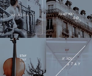 aesthetic, if i stay, and book image