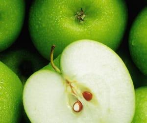 manzana, apple, and comida image