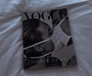 vogue, black and white, and magazine image