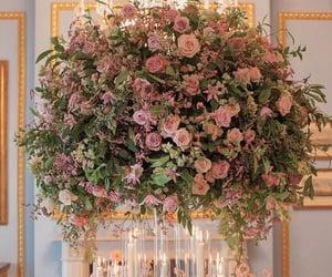 pink flowers, wedding reception, and wedding inspiration image