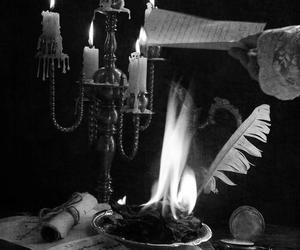 candle, fire, and flame image