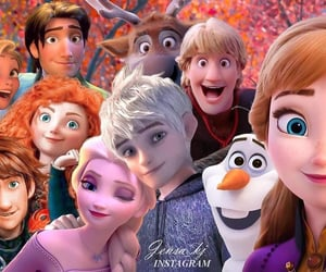 anna, brave, and dreamworks image