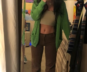 brown, thrift, and mirror pic image