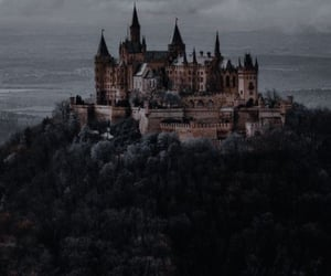 aesthetic, castle, and forest image