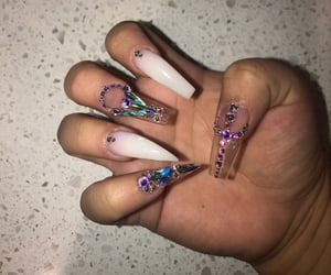 art, long nails, and ghetto nails image