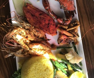 crab, platter, and lobster image