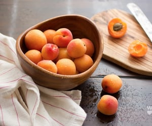 food, fruit, and apricot image