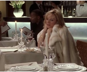 fur coat, sex and the city, and samantha image