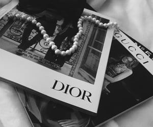 dior, black and white, and gucci image