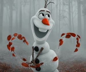 background, cartoon, and olaf image