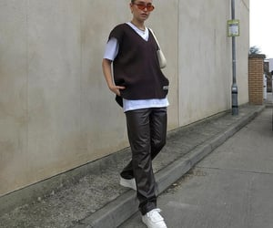 street style, streetwear, and white tee shirt image