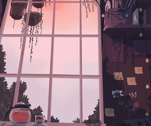 anime, lofi, and sunset image