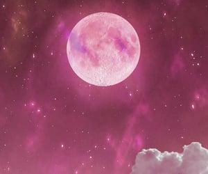 moon, wallpaper, and pink image