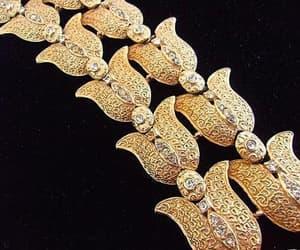 designer signed, renaissance fair, and textured gold tone image