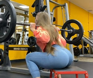 fitness, gym, and squat image