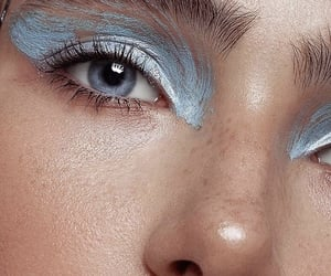 beauty, blue, and eyebrows image