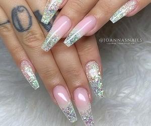 stiletto nails, nail art, and gel nails image