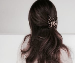 accessories, brown, and curly image