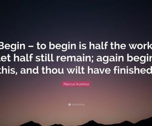 start work, marcus aurelius quote, and stoic philosophy image