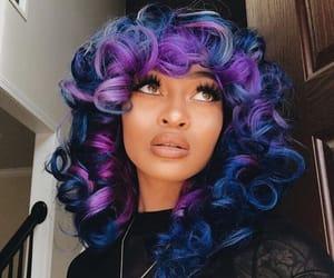 blue hair, dyed hair, and hair image