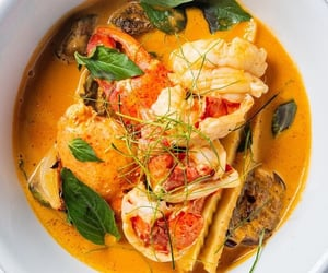 curry, foodie, and seafood image
