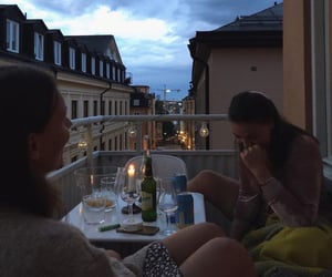 friends, aesthetic, and balcony image