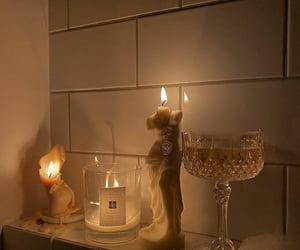candle, aesthetic, and bath image