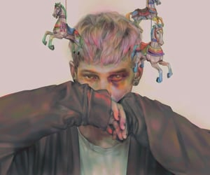 alternative, digital art, and bleached hair image