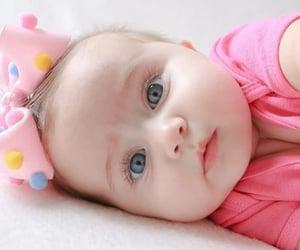 baby, blue eye, and girl image