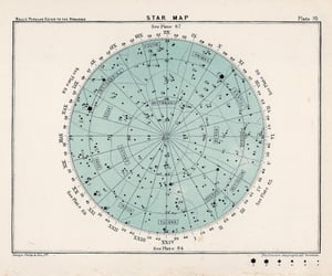 stars, map, and vintage image