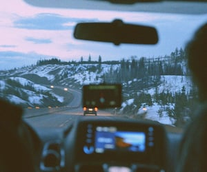 car, snow, and indie image